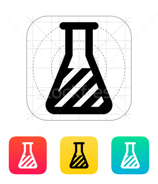 Flask with substance icon. Vector illustration. Stock photo © tkacchuk