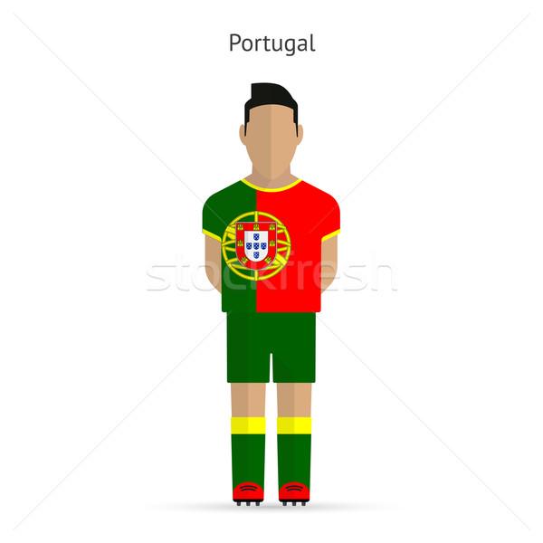 Portekiz futbol üniforma soyut uygunluk Stok fotoğraf © tkacchuk