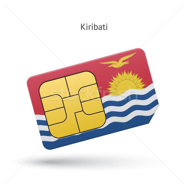Kiribati mobile phone sim card with flag. Stock photo © tkacchuk