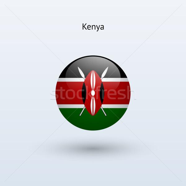 Kenya zászló szürke felirat háló utazás Stock fotó © tkacchuk