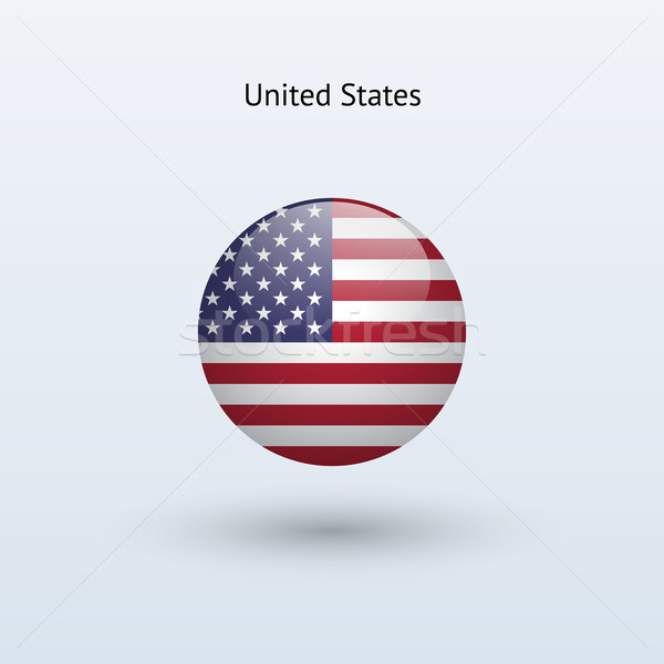 United States round flag. Vector illustration. Stock photo © tkacchuk
