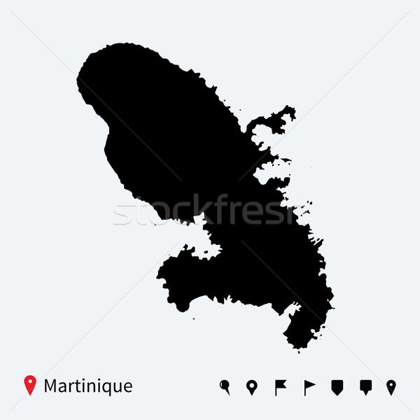 Alto detalhado vetor mapa navegação viajar Foto stock © tkacchuk