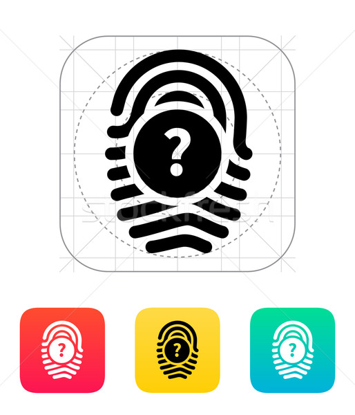 Question mark, FAQ sign. Fingerprint icon. Stock photo © tkacchuk