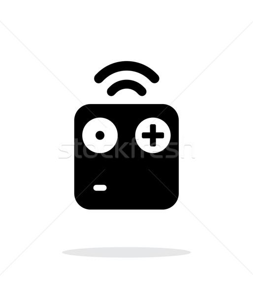 Wireless remote simple icon on white background. Stock photo © tkacchuk