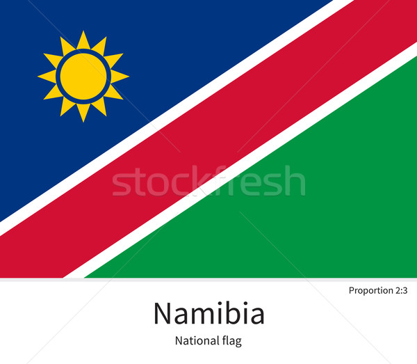 National flag of Namibia with correct proportions, element, colors Stock photo © tkacchuk