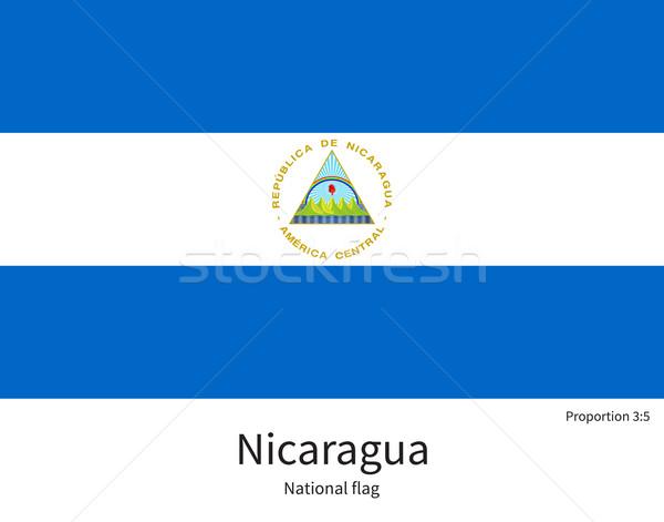 Flagge Nicaragua korrigieren Element Farben Bildung Stock foto © tkacchuk
