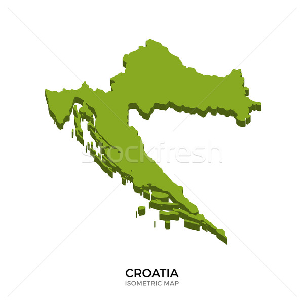 Isometric map of Croatia detailed vector illustration Stock photo © tkacchuk