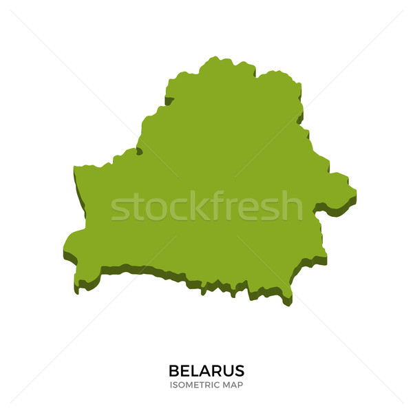 Isometric map of Belarus detailed vector illustration Stock photo © tkacchuk