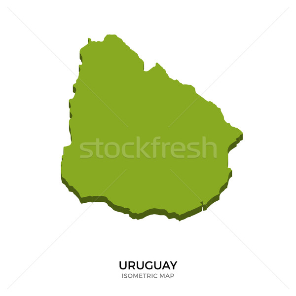 Isometric map of Uruguay detailed vector illustration Stock photo © tkacchuk
