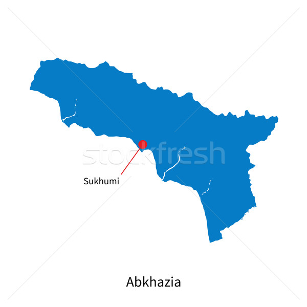 Detailed vector map of Abkhazia and capital city Sukhumi Stock photo © tkacchuk
