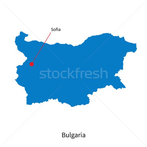 Detailed vector map of Bulgaria and capital city Sofia Stock photo © tkacchuk