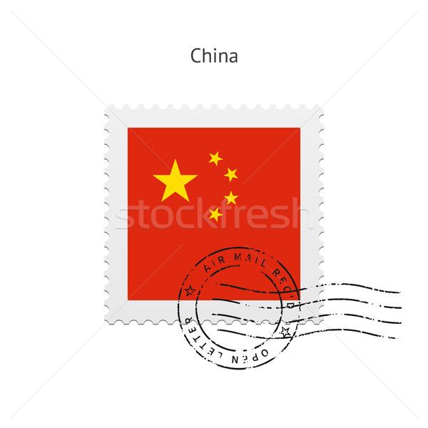 China vlag witte teken brief Stockfoto © tkacchuk
