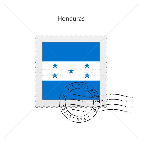 Гондурас флаг почтовая марка белый знак письме Сток-фото © tkacchuk