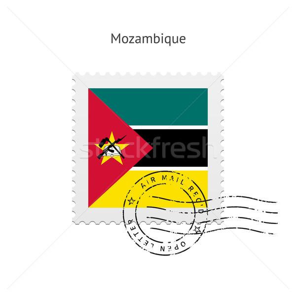 Mozambique Flag Postage Stamp. Stock photo © tkacchuk