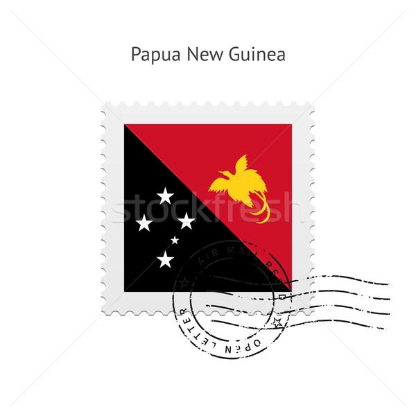 Papua New Guinea Flag Postage Stamp. Stock photo © tkacchuk