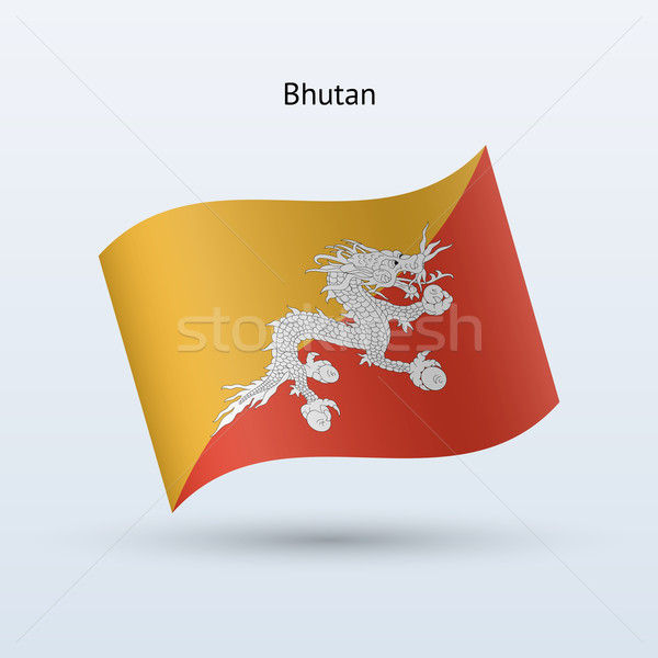 Butão bandeira forma cinza assinar Foto stock © tkacchuk