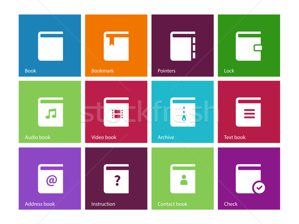 Book icons on color background. Stock photo © tkacchuk