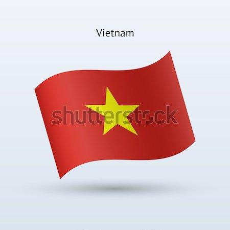 Viêt-Nam pavillon forme gris signe Photo stock © tkacchuk
