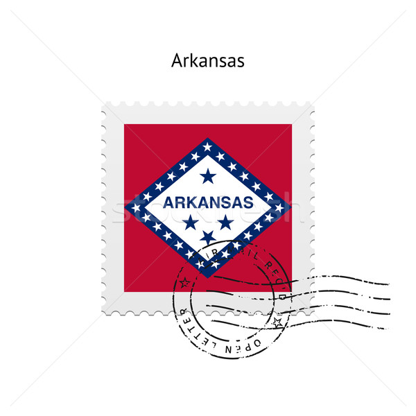 State of Arkansas flag postage stamp. Stock photo © tkacchuk