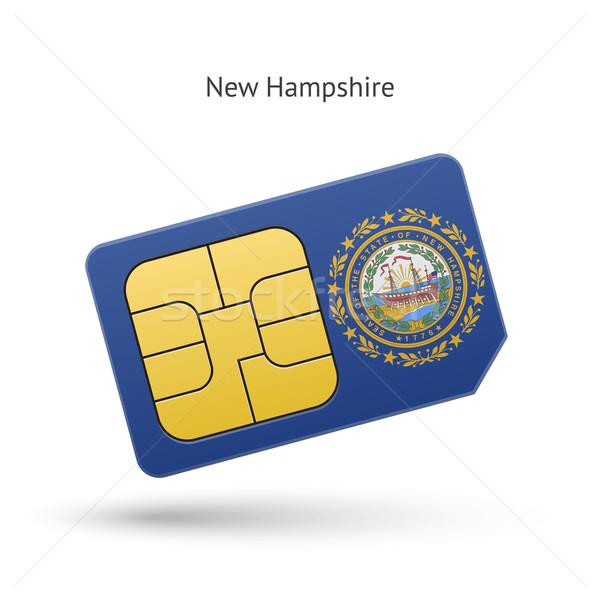 New Hampshire telefono carta bandiera business tecnologia Foto d'archivio © tkacchuk
