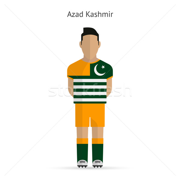 Azad Kashmir football player. Soccer uniform. Stock photo © tkacchuk