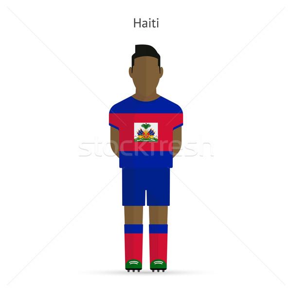 Haiti futbol üniforma soyut uygunluk Stok fotoğraf © tkacchuk