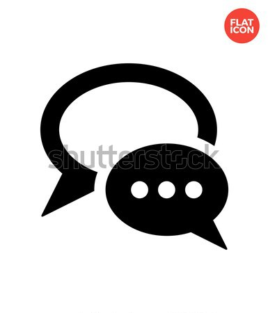 Dialogue bubble icon on white background. Stock photo © tkacchuk