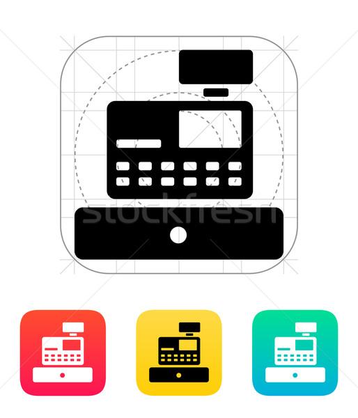 Cash register machine icon. Stock photo © tkacchuk