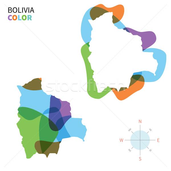 аннотация вектора цвета карта Боливия прозрачный Сток-фото © tkacchuk