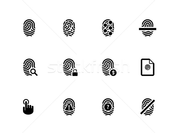 Touch id fingerprint icons on white background. Stock photo © tkacchuk
