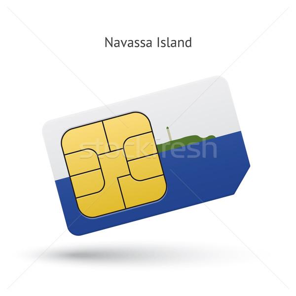 Navassa Island mobile phone sim card with flag. Stock photo © tkacchuk