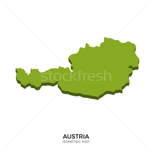 Isometric map of Austria detailed vector illustration Stock photo © tkacchuk
