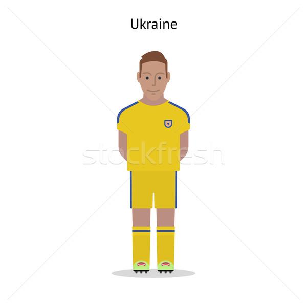 Futebol Ucrânia jogador de futebol forma futebol Foto stock © tkacchuk