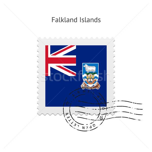 Falkland-szigetek zászló postabélyeg fehér felirat levél Stock fotó © tkacchuk