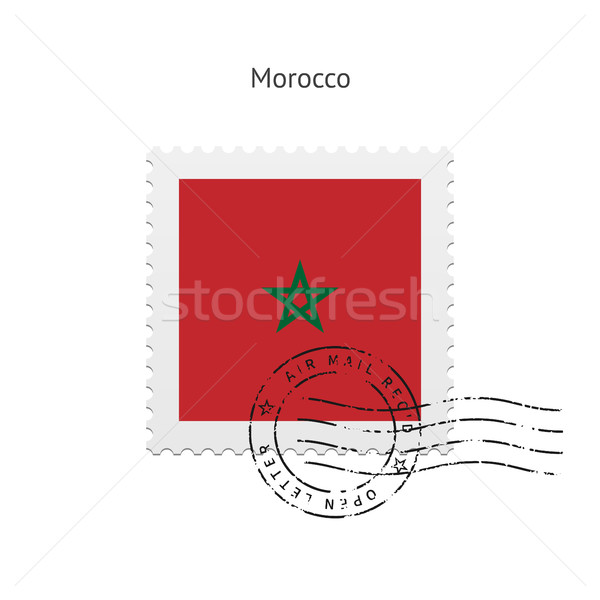 Morocco Flag Postage Stamp. Stock photo © tkacchuk