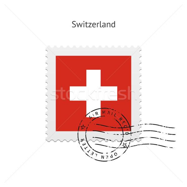 Svizzera bandiera bianco segno lettera Foto d'archivio © tkacchuk