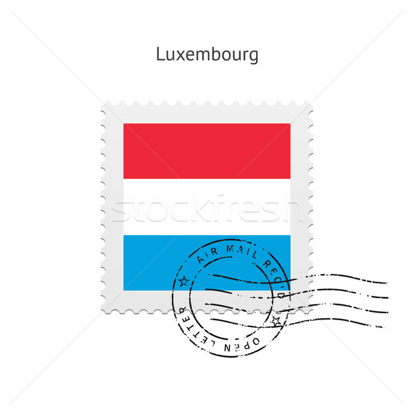 Luxembourg Flag Postage Stamp. Stock photo © tkacchuk