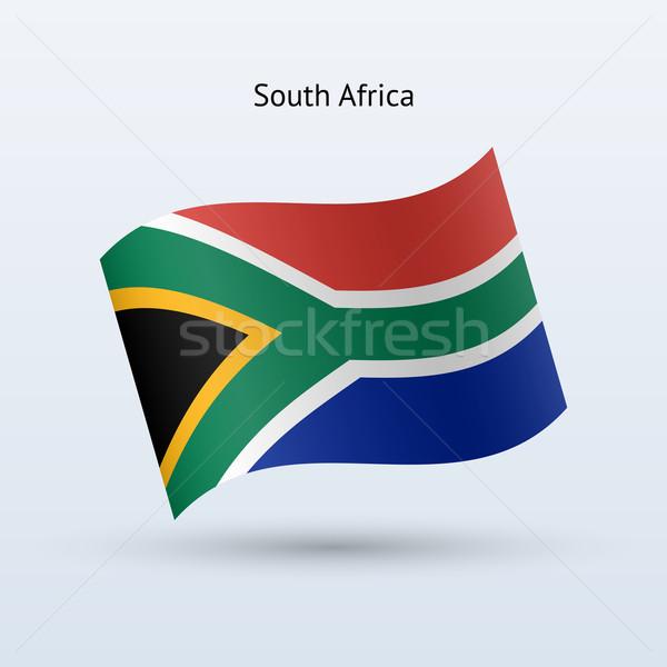 南アフリカ フラグ フォーム グレー にログイン ストックフォト © tkacchuk