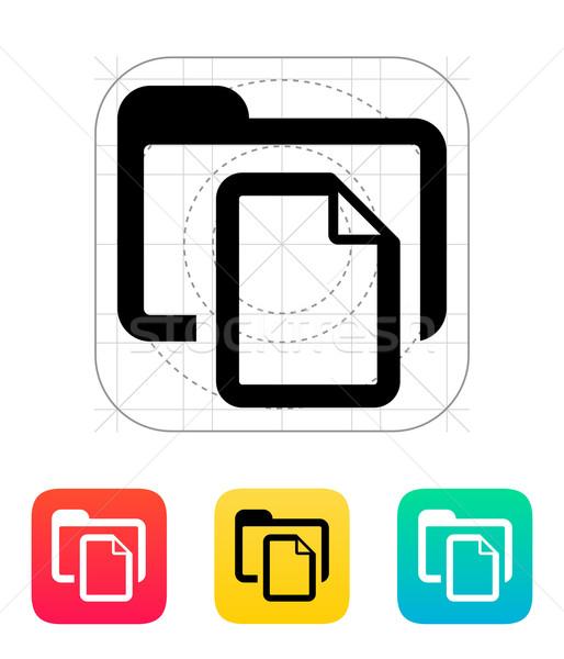 Folder with files icon. Stock photo © tkacchuk