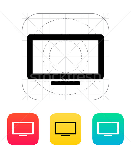 Plasma tela ícone internet televisão teia Foto stock © tkacchuk