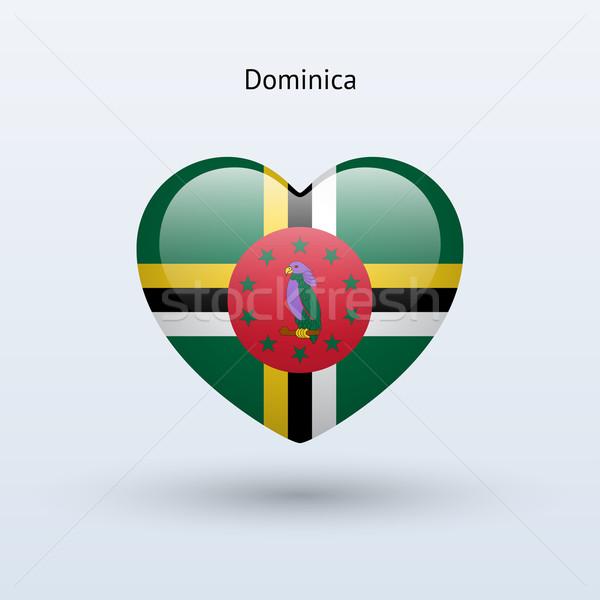 Liefde Dominica symbool hart vlag icon Stockfoto © tkacchuk