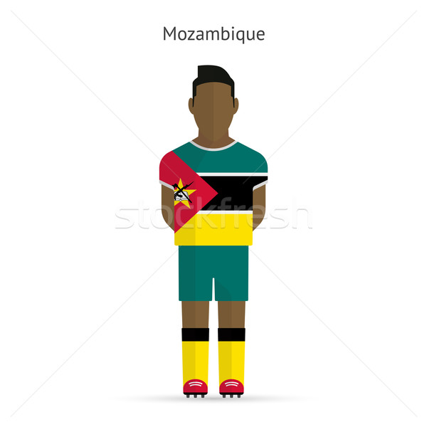 Mozambique football player. Soccer uniform. Stock photo © tkacchuk