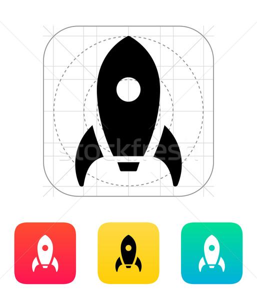 Rocket icon on white background. Stock photo © tkacchuk