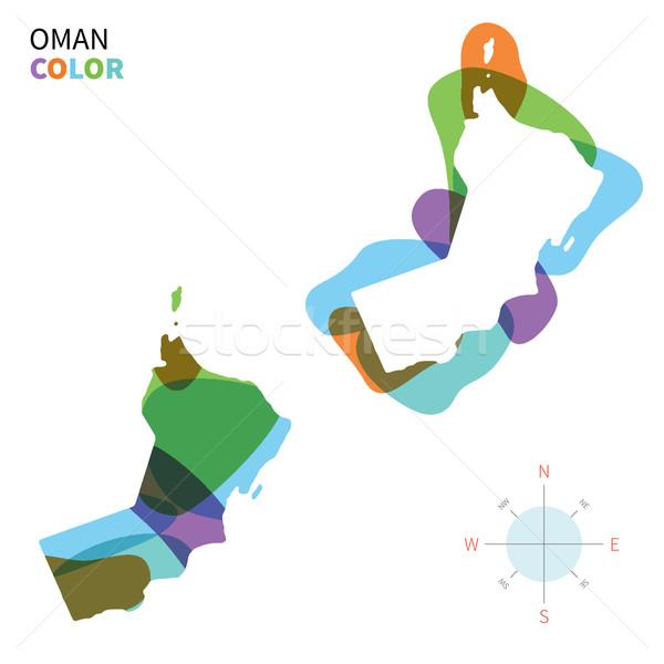 Soyut vektör renk harita Umman şeffaf Stok fotoğraf © tkacchuk