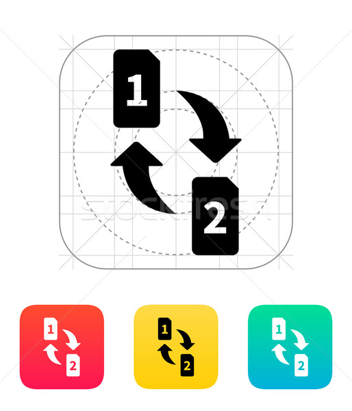 Change SIM cards icon. Stock photo © tkacchuk