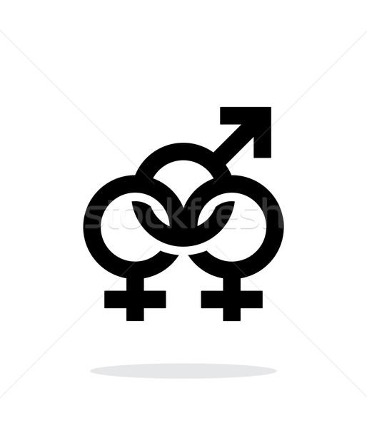 Bisexuels icône blanche design culture lesbiennes Photo stock © tkacchuk
