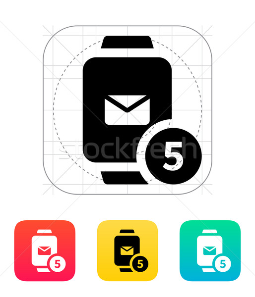 Mail notification on smart watches icon. Stock photo © tkacchuk