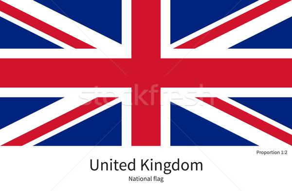 Bandera Reino Unido corregir elemento colores educación Foto stock © tkacchuk