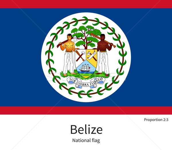National flag of Belize with correct proportions, element, colors Stock photo © tkacchuk