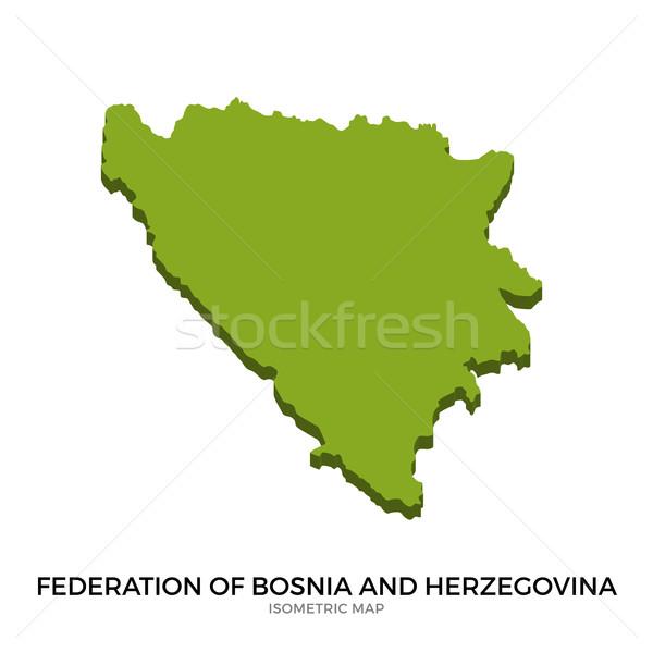 Mapa Bosnia Herzegovina detallado aislado 3D Foto stock © tkacchuk